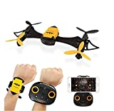 YiDing Remote Control Mini Aircraft Toy Portable Hand Watch Style Bat Uav 4-axis Wifi Aerial Photography Drone