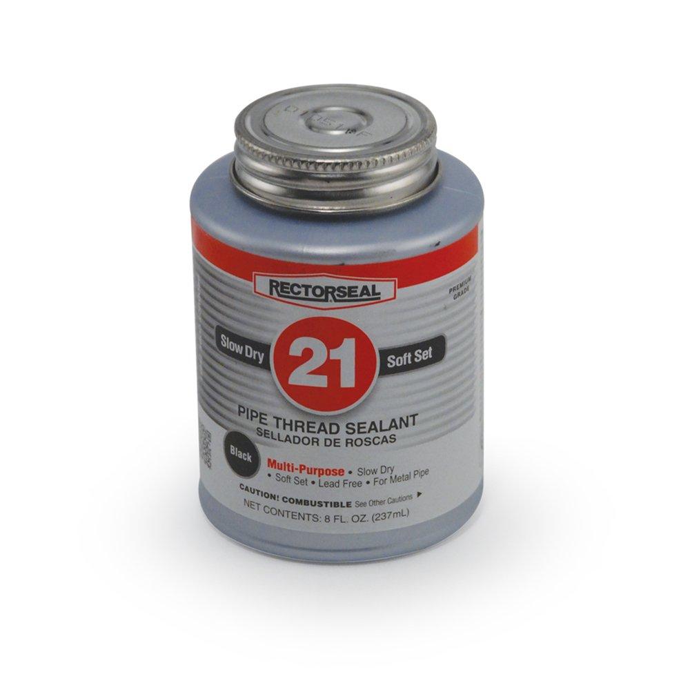 Rectorseal 28651 1 2 Pint Brush Top No.21 Black Jack Pipe Thread Sealant
