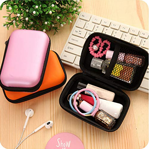 HSada Travel Gadget Organizer Universal Travel Case for Small Electronics and Accessories - Portable EVA Shockproof Bag for Data Cable,Headphone - Multifunction Toiletry Bag Cosmetic Pouch