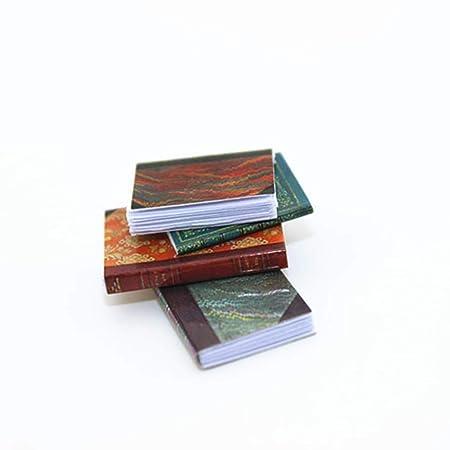 gzzebo Libro de simulación en Miniatura Libro Modelo DIY Casa de ...