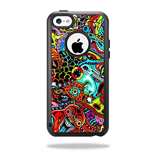 MightySkins Protective Vinyl Skin Decal for OtterBox Commuter iPhone 5C Case wrap cover sticker skins Acid Trippy from MightySkins