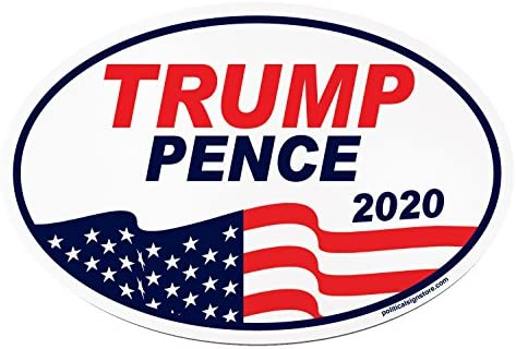 Imagine This O8000 Trump Pence 2020 Oval Car Magnet