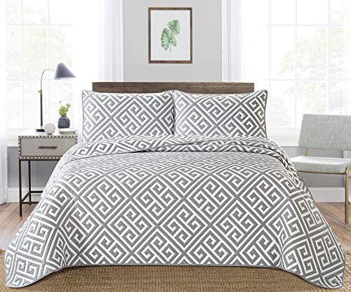 Angel Bedding 3-Piece Washed Quilt Bedspread Coverlet Set