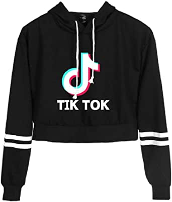 OHYOUNG TIK Tok Hoodie Baseball Long Sleeve Crop Top Women C00605WY22