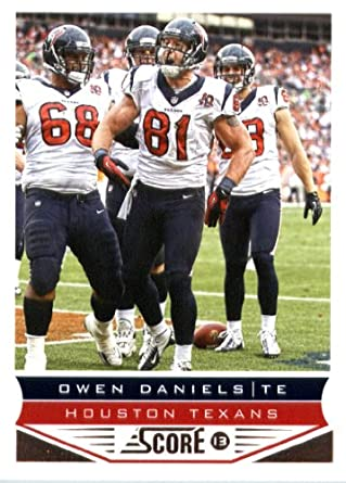Amazon.com  2013 Score NFL Football Card  85 Owen Daniels Mint ... e0e7d6a8b