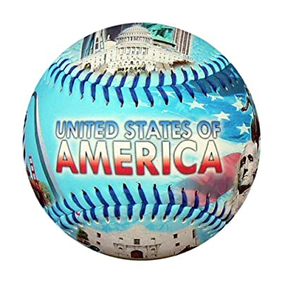 America Landmarks Souvenir Baseball