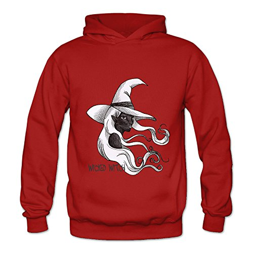 Lennakay Work Adult's Wicked Witch Pullover Hoodie With No Pocket Red For Woman SizeL