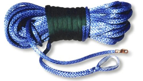 U.S. made AMSTEEL BLUE WINCH ROPE 1/2 inch x 100 ft Blue (34,000 lb strength) (4X4 VEHICLE RECOVERY) by BILLET4X4
