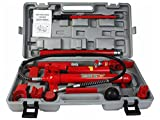 10 Ton Porta Power Hydraulic Jack Body Frame Repair Kit Auto Shop Tool Heavy Set