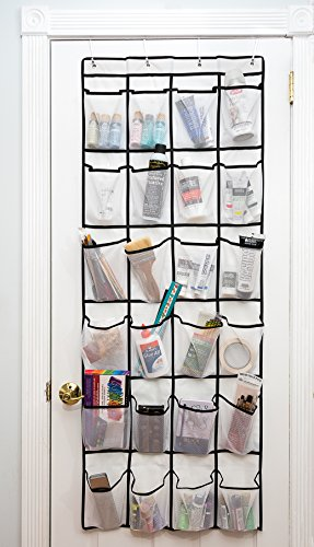 Kenko Comfort UPGRADED Version. Extra Large 24 Pockets Over The Door Shoe Organizer Use Heavy Duty White Mesh Fabric by Kenko Comfort
