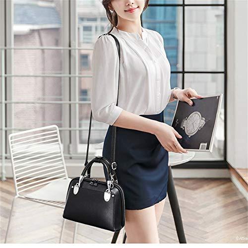 retro Handbags bag bag shell Design purple PU Black RFVBNM fashion Women Fashion bag for Handle shoulder Top dark handbag messenger Elegant wx458AqZ