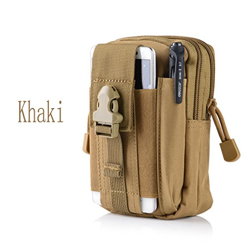 Amazon.com: Canvas Outdoor Tactical Wallets, Holster Military Molle Hip Waist Belt Bag Wallet Pouch Purse Phone Case with Zipper for iPhone 7 6s Plus 5S ...