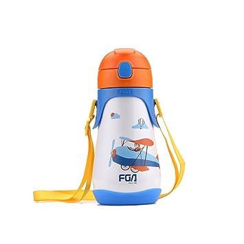 Yvon nelee alta calidad 304 Acero Inoxidable Termo Botella Botella de agua para mujer hombre Niños y Niñas aislado botella Pajita/Pajita plástico ...