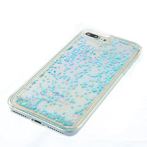 Coque iPhone 7 Plus Etui TPU pour iPhone 7 Plus Anfire 3D Liquid Sables Mouvants Case Étoile Paillettes Housse pour Apple iPhone 7 Plus (5.5 pouces) Bling Glitter Transparent Gel Silicone Etui de Prot