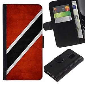 All Phone Most Case / Oferta Especial Cáscara Funda de cuero Monedero Cubierta de proteccion Caso / Wallet Case for Samsung Galaxy S5 V SM-G900 // National Flag Nation Country Trinidad and Tobago