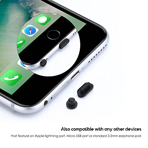Flavor 10pcs Silicone Anti Dust Cap Earphone Jack Plug Stopper Charge Port Plug Stopper For Iphone 5 5s 6 6s Silicone Plug Black White Fragrant In
