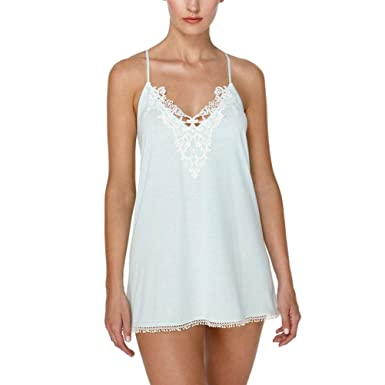 b50f5b3b08b Image Unavailable. Image not available for. Color  Flora Nikrooz Blake  Lace-Trimmed Knit Chemise