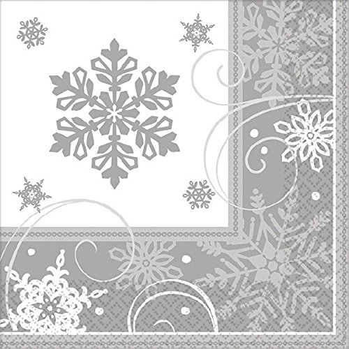 amscan Sparkling Snowflake Christmas Party Tableware -