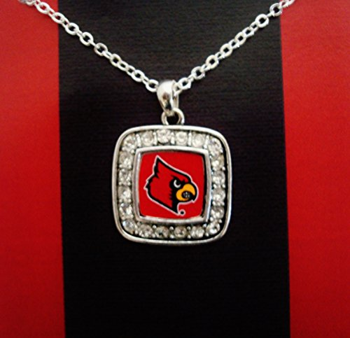Accessory Accomplice Officially Licensed University of Louisville Cardinals Silvertone Crystal Studded Pendant ()