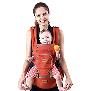 Fresh Shine Baby Hip Seat Carrier, Winter, Orange, Perfect for Baby, Toddlers and Infants