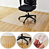 Kuyal Clear Chair Mat, Hard Floor Use, 48'' x 36'' Transparent Office Home Floor protector mat Chairmats (36'' X 48'' Rectangle)