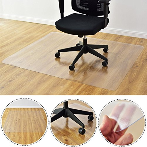 Kuyal Clear Chair Mat, Hard Floor Use, 48'' x 36'' Transparent Office Home Floor protector mat Chairmats (36'' X 48'' Rectangle) by Kuyal