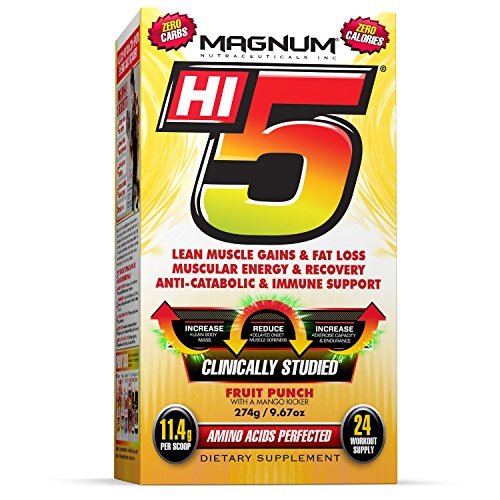 Magnum Nutraceuticals Hi5 Fruit Punch with a Mango Kicker - BCAA Powder