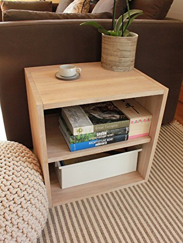 Cubo de almacenaje con estantería de madera de roble maciza ...