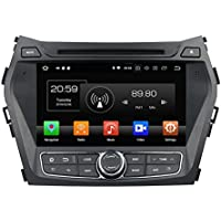 Android 8.0 Hyundai SANTA FE 2006 2007 2008 2009 2010 2011 2012 Indash Car Stereo Radio Head Unit GPS Navigation System with DVD Player/Bluetooth/SD/USB/Radio/Steering Wheel Control/8 Core/4GB RAM