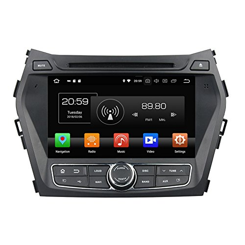 (COROTC Compatible Android 8.0 in Dash Car Stereo Radio Head Unit GPS Navigation System Replacement for Hyundai Santa FE 2005-2012 with DVD Player/Bluetooth/USB/Radio/SWC/8 Core/4GB RAM)