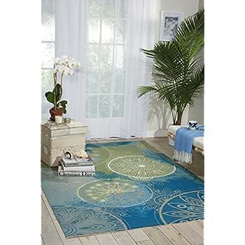 Amazon Com Nourison Wav01 Sun Amp Shade Seagl Rectangle