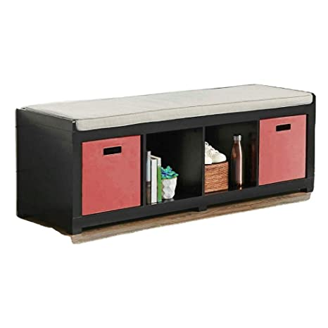 Fine Amazon Com Cube Storage Bench Wood Floor Large Entryway 4 Uwap Interior Chair Design Uwaporg