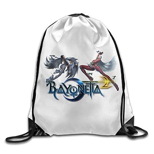 DEMOO Bayonetta LOGO Drawstring Backpack / Sack Bag - Bayonetta Xbox 360 Costumes