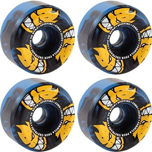 【特別セール品】 Spitfire Wheels スワール Formula Four Afterburner ブルー 53mm/ブラック Afterburner スワール スケートボードホイール 円錐型 - 53mm 101a (4個セット) B07J1VYY83, 千倉町:90f7ff7e --- mvd.ee