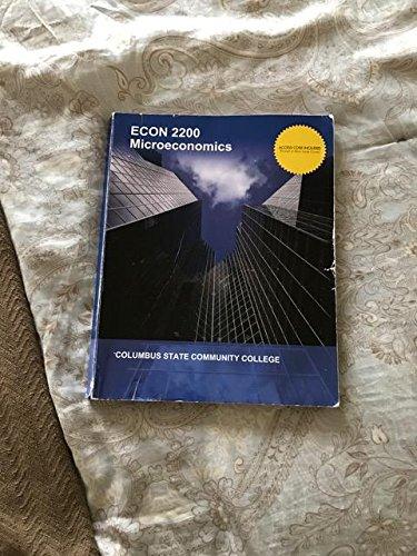 ECON 2200 Microeconomics, Columbus State Community College pdf