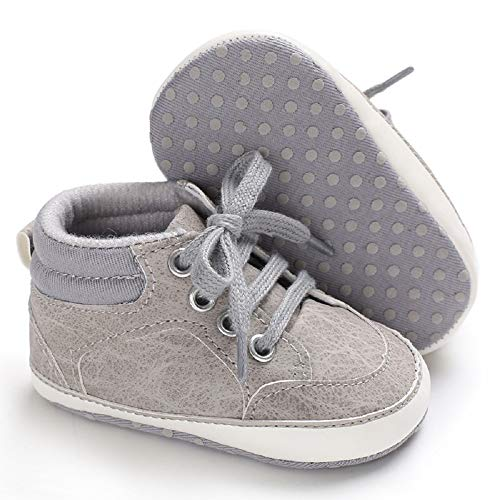 Meckior Save Beautiful Toddler Baby Girls Boys Shoes Infant First Walkers Sneakers (0-6 Months, D-Gray)