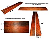 Cocobolo boards set #7, 72'' long x 5.875'' wide x 1.25'' thick