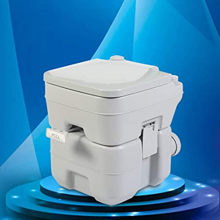 Removable Camping Toilet Flush Portable Outdoor Potty Commode Seat Heavy Duty