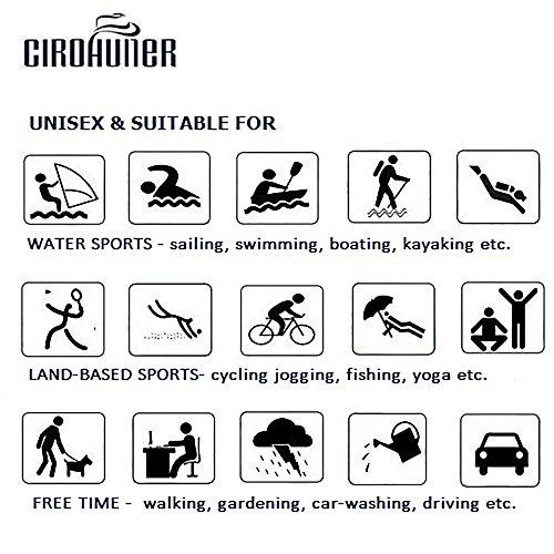 CIROHUNER Männer Frauen Leichte Multifunktionale Quick-Dry Aqua Wasser Schuhe für Beach Swim, Walk, Yoga Weiß_b