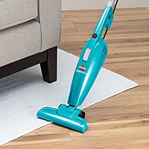Bissell Featherweight Stick Bagless Vacuum - in use upright carpet and wood floor