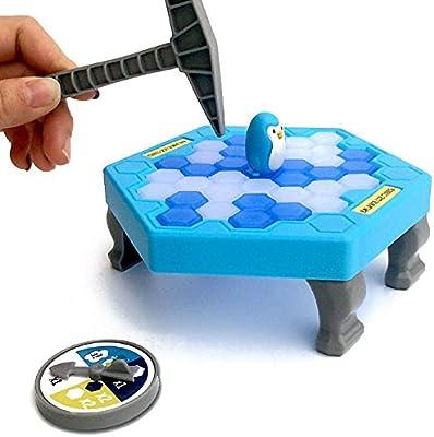 Highdas Pingüino Cubos de Hielo Mini Juego de Mesa para niños Equilibrio Hielo Rompecabezas Guardar pingüino rompehielos batiendo Juegos interactivos: Amazon.es: Juguetes y juegos