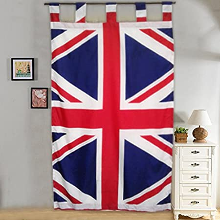 BRITISH FLAG Curtains Window Treatment Union Jack Bedding U0026 Linens UK FLAG  Pattern Bedroom Blinder Drapes