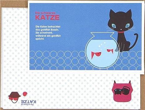 Juego de cartas con gatito negro y pecera, de Japón: Amazon.es: Juguetes y juegos