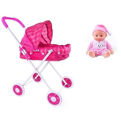 Luerme Carrito de juguete para niños y niñas Carrito de juguete para niños Muñeco simulado Juguete