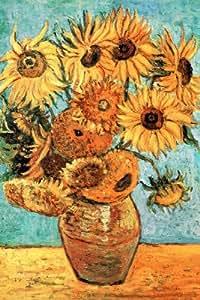 Vincent Van Gogh Vase with Twelve Sunflowers Art Print Poster Poster Poster Print, 24x36