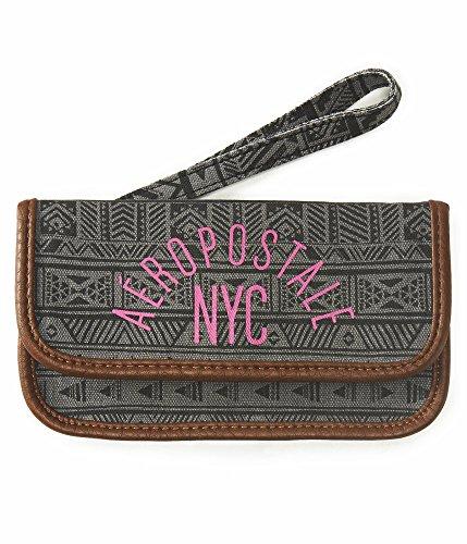 Aeropostale Women's Aero Nyc Southwestern Wallet Black