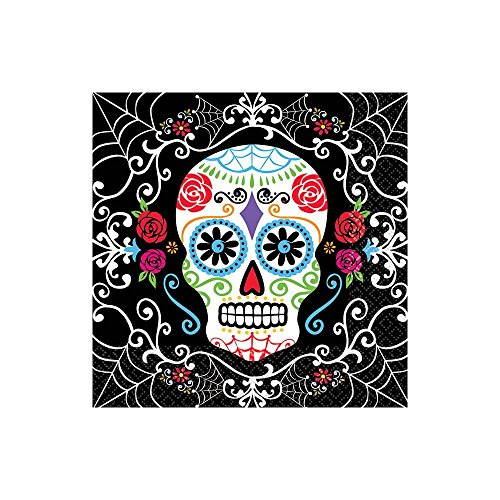[Day of the Dead Beverage Napkins (36 Pack)] (Day Of The Dead Party Supplies)