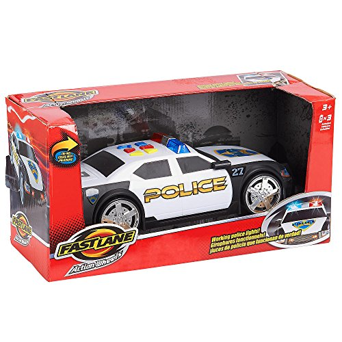 Fast Lane Police Car Action Wheels with Lights and Sound Motorized (Light And Sound Car compare prices)