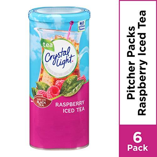Crystal Light Sugar Free Raspberry Iced Tea Powdered Drink Mix, Low Caffeine, 1.6 oz - Diet Crystal