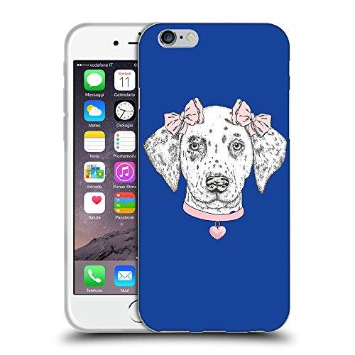 GoGoMobile Coque de Protection TPU Silicone Case pour // Q05040613 collier Chien Bleu // Apple iPhone 7